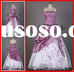 PYN2218 2012 In Stock Applique Strapless Ball Gown quinceanera dresses