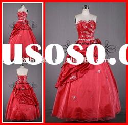 PYN2220 2012 Glamorous In Stock Organza Strapless Ball Gown quinceanera dresses