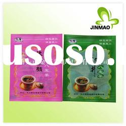 Plastic pouch for tea packaging