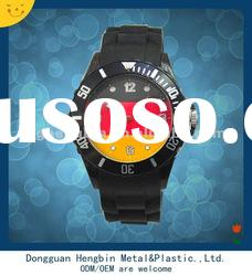 Quartz watch japan movement colorful watch silicone band