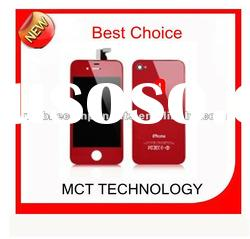 Red Assembly For iPhone 4S Plating Glass Back Cover Digitizer LCD Display Screen