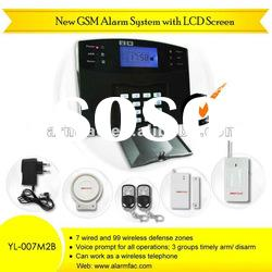Shenzhen Factory!!best gsm home security alarm system withremote listening device (YL007M2B)