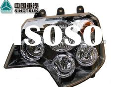 Sinotruk Spare Parts HOWO Combine Head Lamp / Head Light Left Assembly WG9925720001
