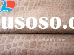 Six-Heddle Weft Suede Embossing fabric