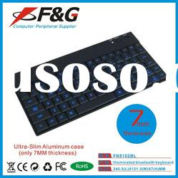 Ultra-thin led bluetooth keyboard for ipad,iphone and tablet pc,panel pc.