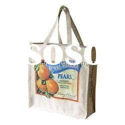 Vegetables and Fruits Shopping Canvas Bag, Shopping Bag