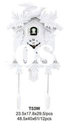White Color New Style Fashion Cuckoo Wall Clock...