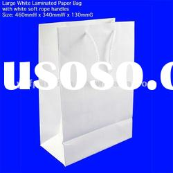 White Gloss Laminate paper bags