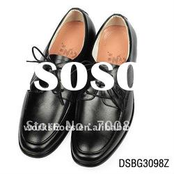 black leather shoes men with high quality