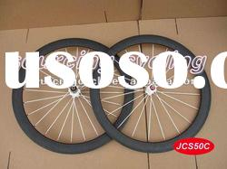 carbon bicycle wheels,50mm clincher 3K matte bicycles carbon wheels with white spoke