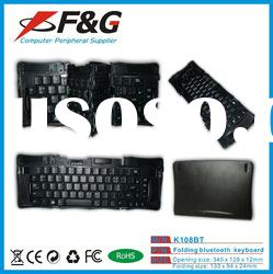 four-foldable bluetooth keyboard for ipad,iphone and tablet pc,panel pc.