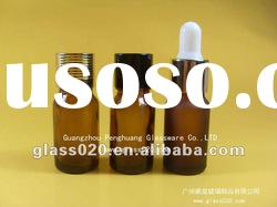 high quality frosted amber essential oil bottle