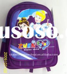 high quality school bag with lovely carton picture