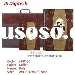 new design 2012 version top class finishing leather cover photo album YS-013C