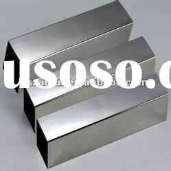 polished cold rolled decorative welded stainless steel square pipe tube