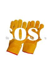 "10"" yellow cow split welding safety glove"