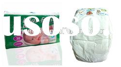 2012 FREE sample disposable PE film tape baby diaper nappy manufactory