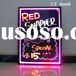 2012 Hot product Led fluorescent writing board