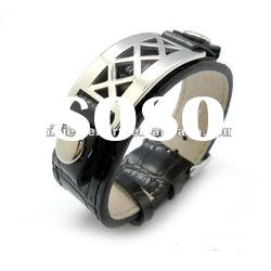2012 New design hot sell fashion leather bracelet accessories for man