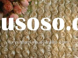 2012 latest new design cord/tape/rose/ribbon embroidery fabric