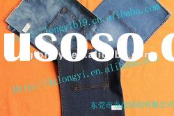 2012 polyester washed spandex denim fabric for jeans
