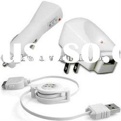 3 in 1 Charger and Retractable Data Cable Line For Iphone Samsung Nokia HTC etc.