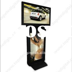 42 inch supermarket/mall floor standing double/dual screen lcd advertising monitor,digital poster