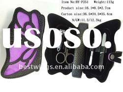 4PCS Butterfly Shape Promotional Manicure Set in Leather Case