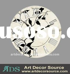 "60"" Dia Flower Pattern wooden wall decorative clock"
