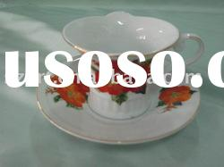AG-046 round porcelain coffee cup and saucer