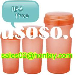 BPA free colored promotion water drinking cup with a lid