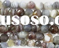 Botswana Agate Faceted Round Loose Beads Jewelry