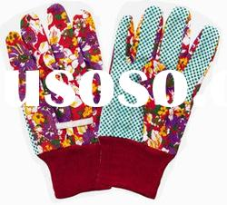 Cotton Garden Gloves with PVC dots