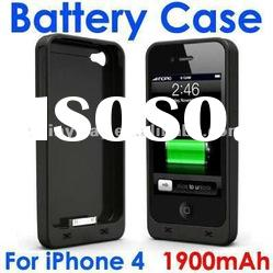 External backup battery case for iPhone 4(s) with factory price