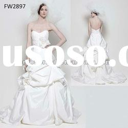 FW2897 Strapless Taffeta Floor Length Ladies Wedding Dress