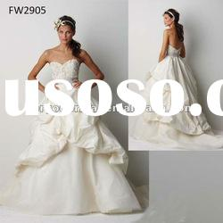 FW2905 Strapless Taffeta Floor Length Ladies Wedding Dress