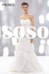 FW2925 Satin Strapless Floor Length Ladies Wedding Dress
