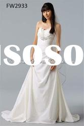 FW2933 Taffeta Strapless Floor Length Ladies Wedding Dress