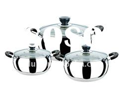 Factory price 6 pcs stainless steel Apple Cookware