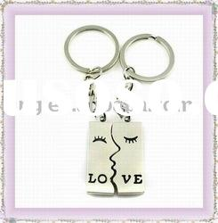 Fashion metal alloy lover keychain&keyring with moon style