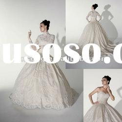 Gorgeous Long Sleeve Removeable Jacket Ball Gown Bridal Gown