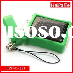 Haipaite 2012 New Mini solar charger with 25mA solar panel and 410mA battery for iphone