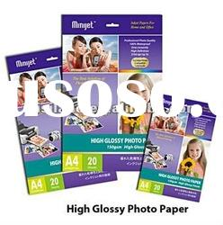 High glossy paper 180g for all inkjet printers compatible with dye and pigment ink