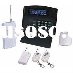 Home security gsm alarm system wireless with LCD screen