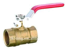 J2033 Brass Ball Valve with full bore and steel handle