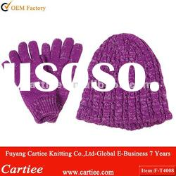 Knitted Winter Sets Scarf & Hats & Gloves