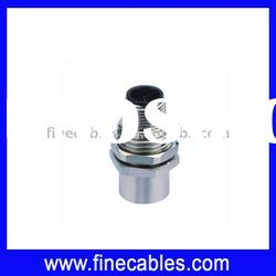 M12 male and female panel type connector for mount, chassis side thread M16
