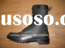 Manufacturer Black Army Leather Boots OEM of high quality