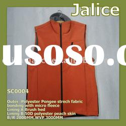 Men's Softshell Work Vest Lined with Polyester Peach Skin