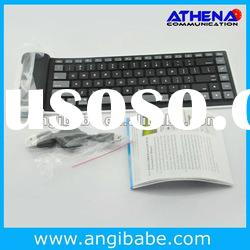 Mini Flexible Wireless Bluetooth Foldable Keyboard for Android Tablet PC Laptop